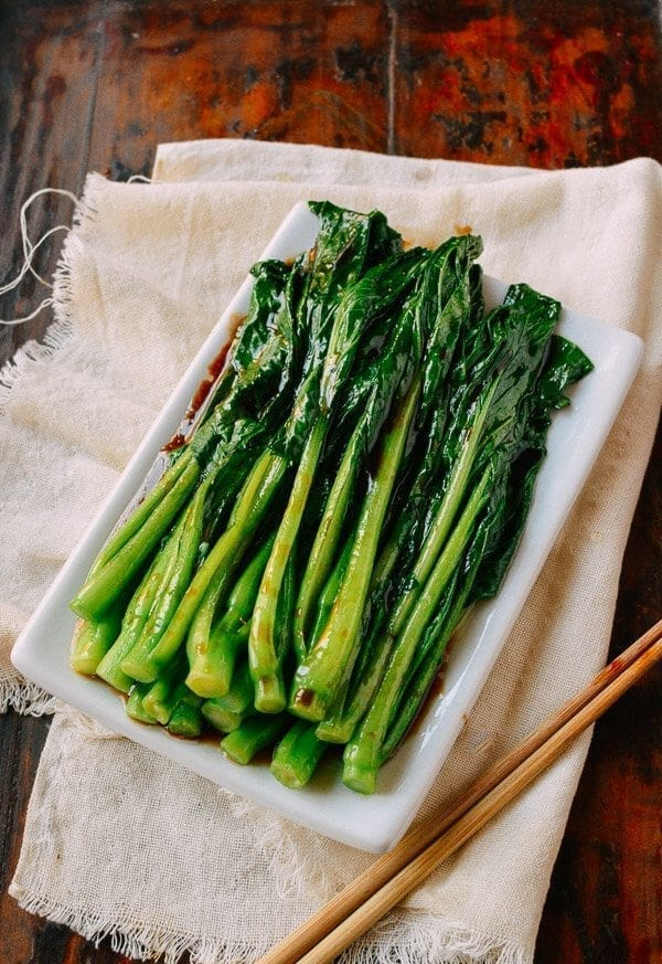 Easy Yu Choy Recipe, by thewoksoflife.com