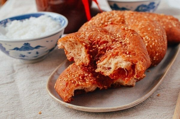 Cantonese Fried Dough (Ham Chim Peng), by thewoksoflife.com