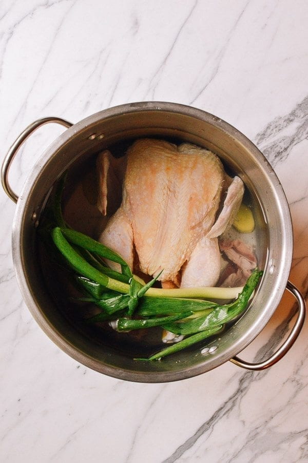 Homemade Chicken Stock, by thewoksoflife.com