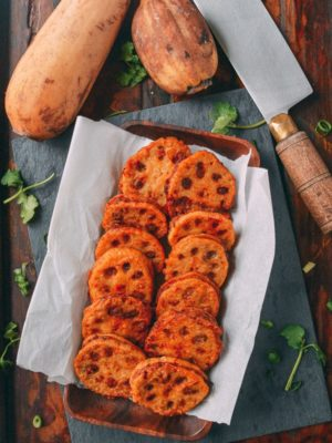 Crispy Stuffed Lotus Root with Pork (2017 Chinese New Year Recipes), by thewoksoflife.com