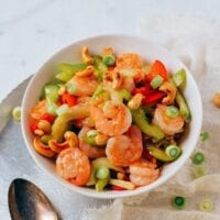 Cashew Shrimp Stir-fry, by thewoksoflife.com