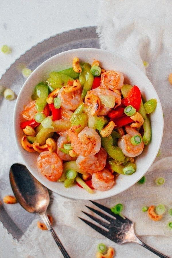 Cashew Shrimp Stir-fry, by thewoksoflife.com