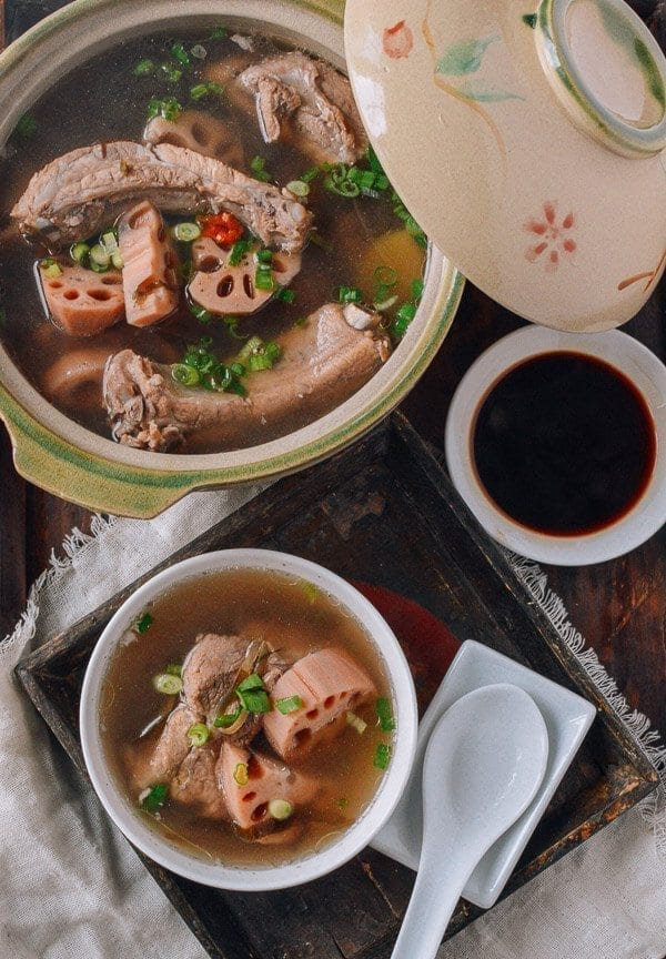 Lotus Root & Pork Soup, by thewoksoflife.com