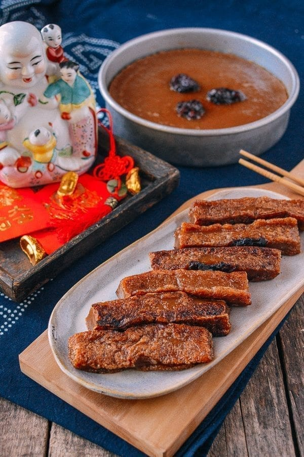 Chinese New Year Sweet Rice Cake (Nian Gao), by thewoksoflife.com