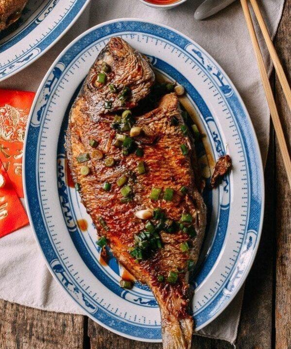 Pan Fried Fish - Chinese Whole Fish Recipe, by thewoksoflife.com