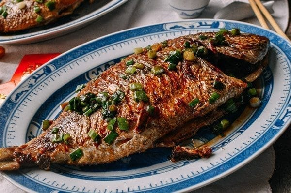 Pan fried fish chinese whole fish recipe the woks of life for Deep fried whole fish