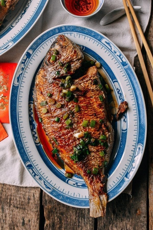 Pan Fried Fish - Chinese Whole Fish Recipe, by thewoksoflife.com