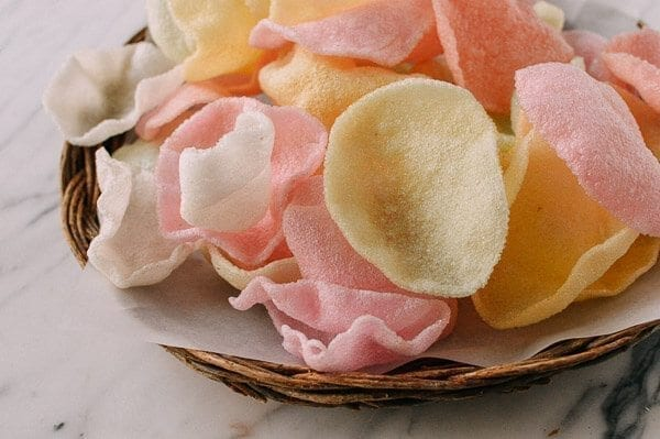 Prawn Crackers, by thewoksoflife.com