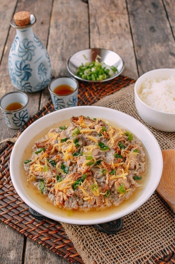 Steamed Pork Cake with Salted Fish, by thewoksoflife.com