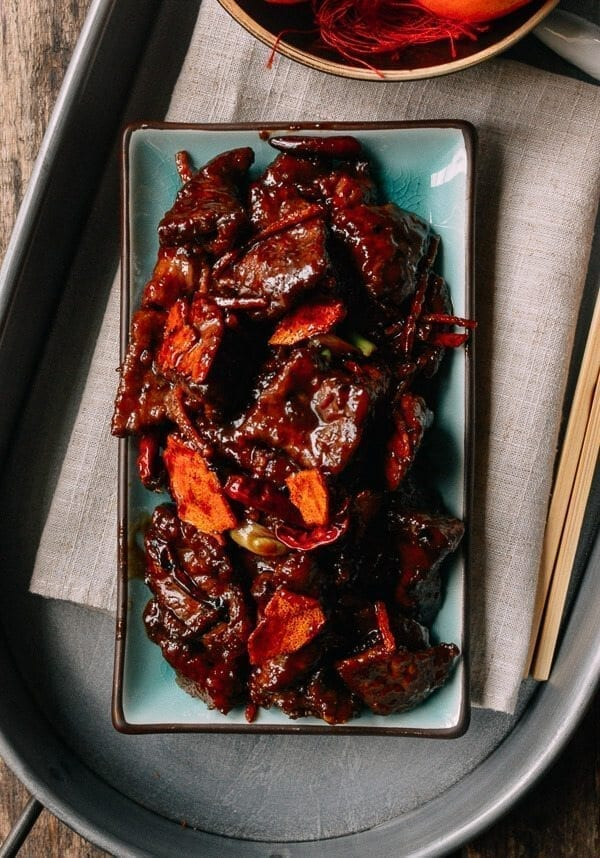 Chinese New year Recipes - Tangerine Beef, by thewoksoflife.com