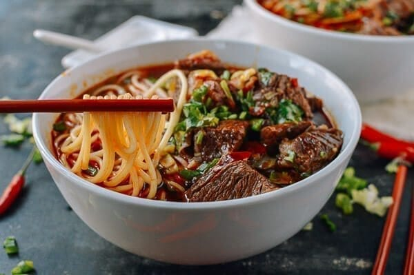 Spicy Beef Noodle Soup, by thewoksoflife.com