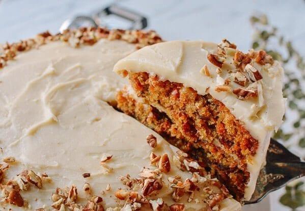 Our Favorite Carrot Cake Recipe, by thewoksoflife.com
