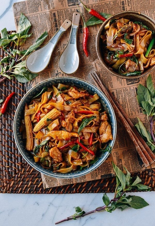 Drunken Noodles (Pad Kee Mao), by thewoksoflife.com
