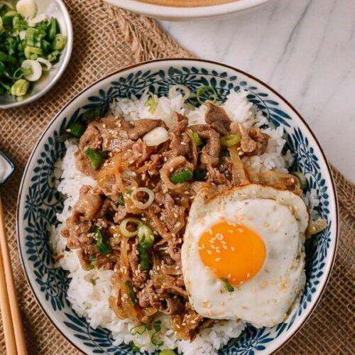 Gyudon Japanese Beef Rice Bowls The Woks Of Life