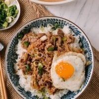 Gyudon (Japanese Beef & Rice Bowls)