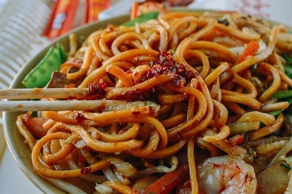 Shrimp Lo Mein Just Like Chinese Takeout The Woks Of Life