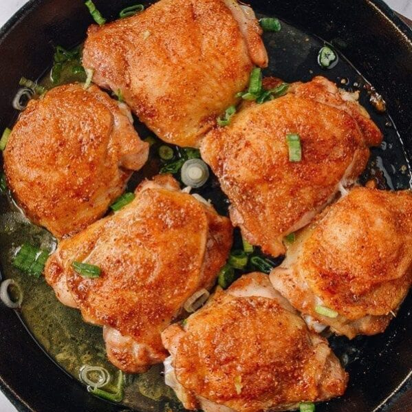 Baked spiced chicken thighs