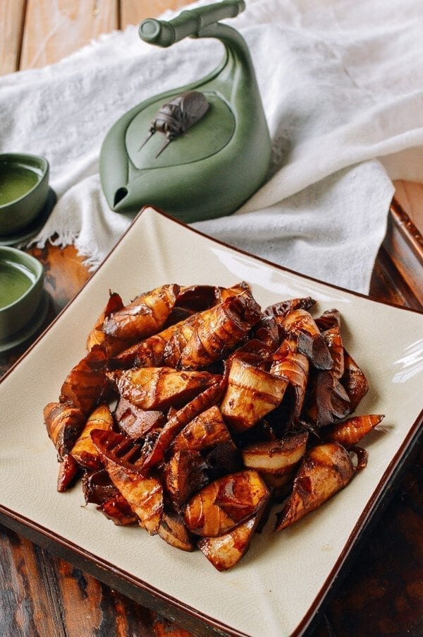 Braised Spring Bamboo Shoots (油焖笋), by thewoksoflife.com