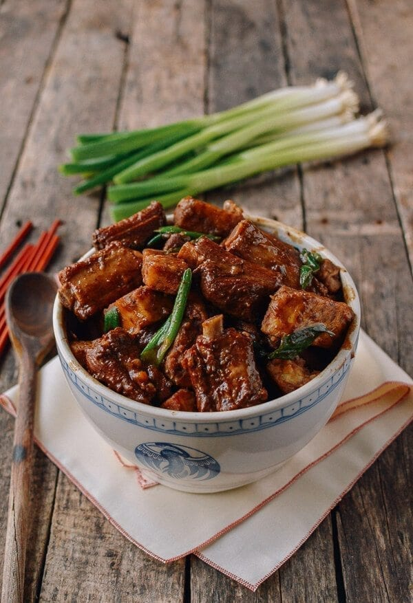 Braised Pork Ribs and Taro Stew, by thewoksoflife.com