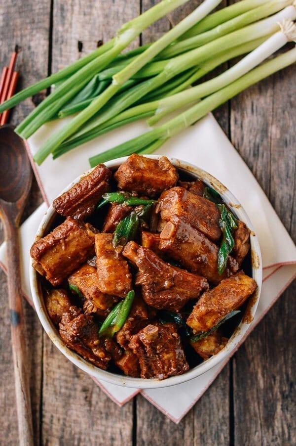 Braised Pork Ribs and Taro Stew, by thewoksoflife.com