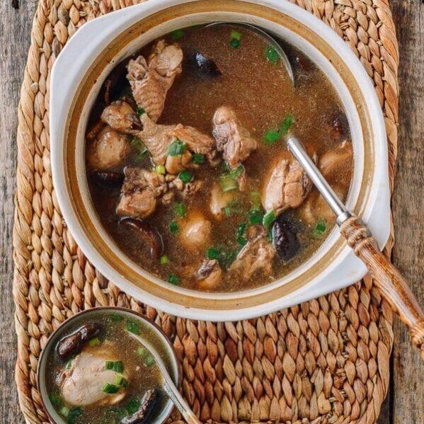 Chicken Mushroom Soup, thewoksoflife.com
