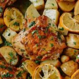 Lemon chicken thighs with potatoes