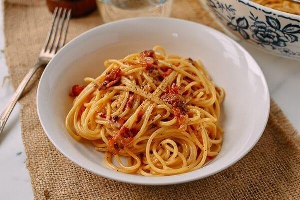 The Perfect Spaghetti Carbonara, by thewoksoflife.com