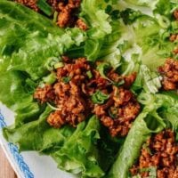 Chicken Lettuce Wraps, A Healthy Low Carb Favorite, by thewoksoflife.comorite, by thewoksoflife.com