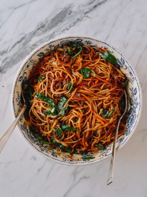 15-Minute Lazy Noodles, by thewoksoflife.com