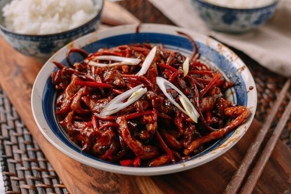Pork Stir-Fry with Sweet Bean Sauce, by thewoksoflife.com