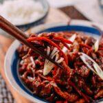 Pork stir-fry with sweet bean sauce