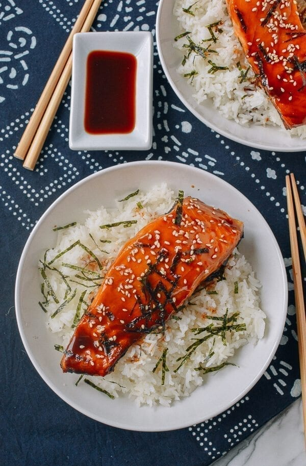 25 Last minute meals - Salmon Teriyaki Bowls, by thewoksoflife.com