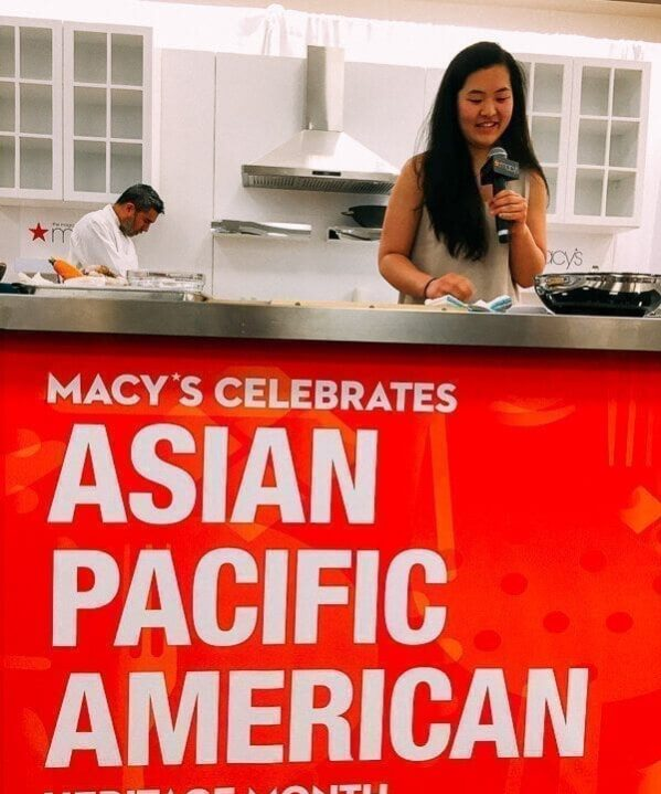 Sarah hosting Asian Pacific Heritage month event at Macy's
