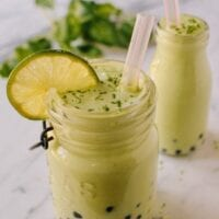 Avocado Smoothies with Boba