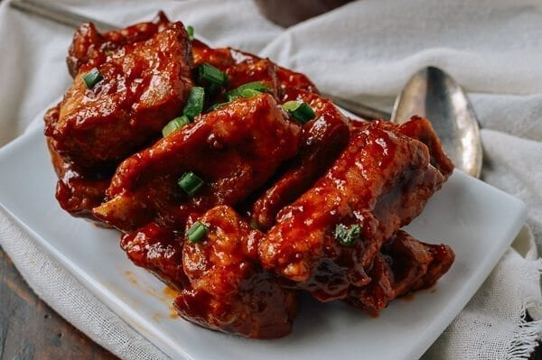 Peking-Style Pork Ribs, by thewoksoflife.com