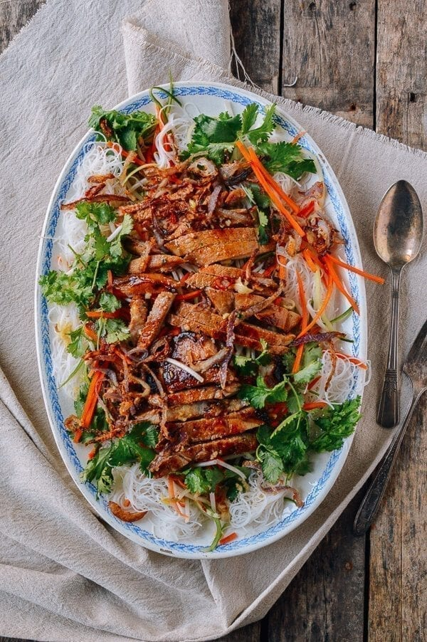 Vietnamese Noodle Salad with Seared Pork Chops - The Woks of Life