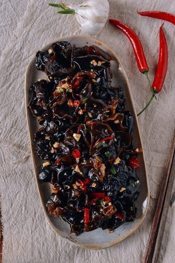 Wood Ear Mushroom Salad, by thewoksoflife.com