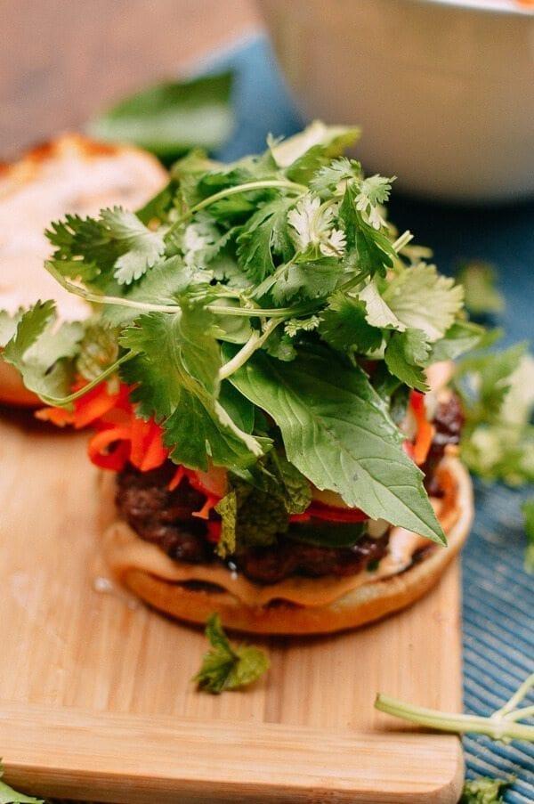 Banh Mi Burgers, by thewoksoflife.com