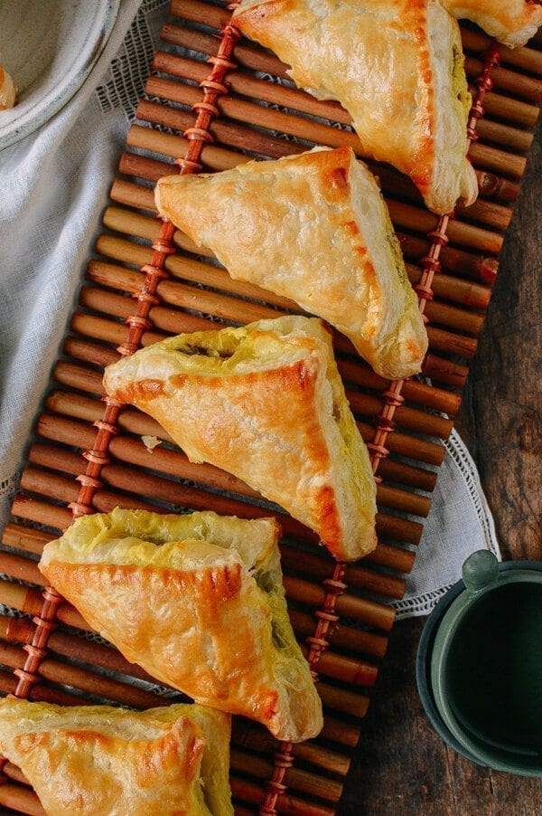 Beef Curry Pastry Puffs, by thewoksoflife.com