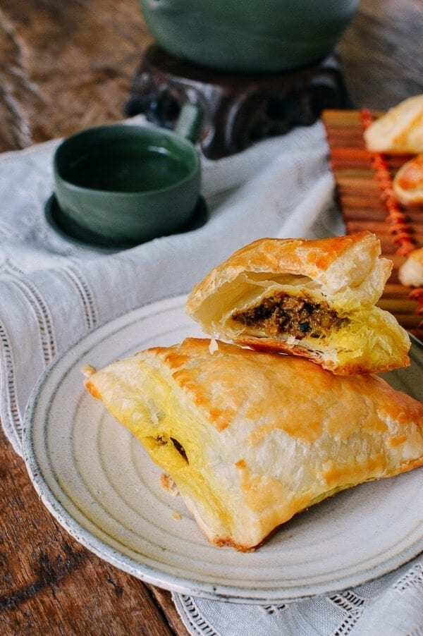 Beef Curry Puffs, by thewoksoflife.com