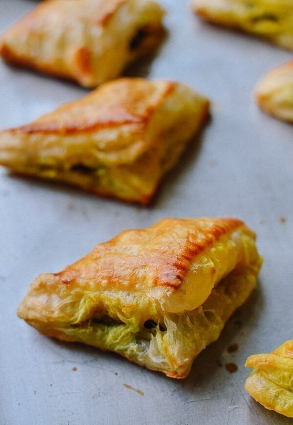 Curry Puffs, by thewoksoflife.com