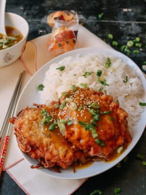 Chicken Egg Foo Young, by thewoksoflife.com
