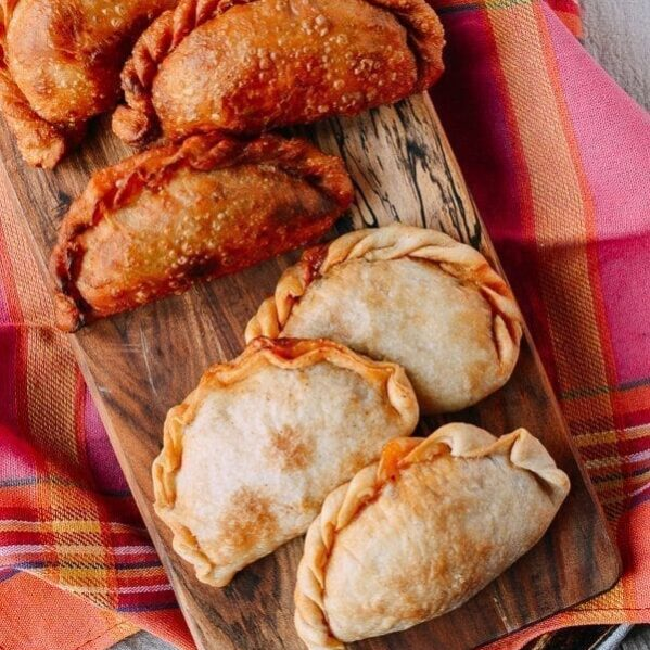 Fried and baked empanadas