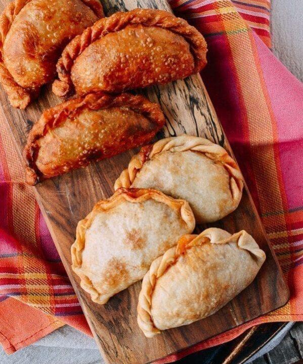 Fried and baked empanadas