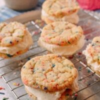 Funfetti Ice Cream Sandwiches, by thewoksoflife.com
