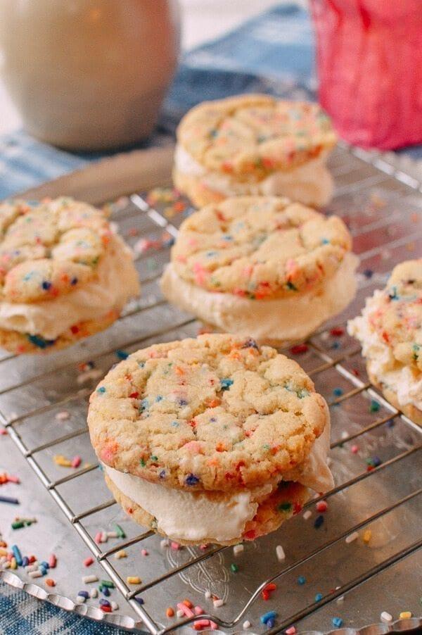 Funfetti Ice Cream Sandwiches, by thewoksoflife.com