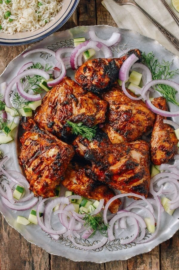 Grilled Tandoori Chicken With Indian Style Rice The Woks Of Life