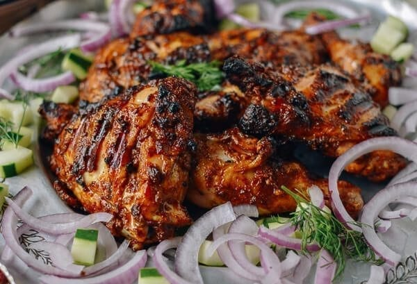Grilled tandoori chicken with indian style rice the woks of life grilled tandoori chicken with indian style rice by thewoksoflife forumfinder Image collections