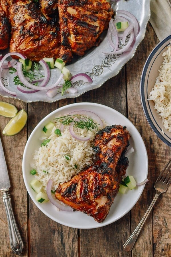 Grilled Tandoori Chicken with Indian-Style Rice | The Woks