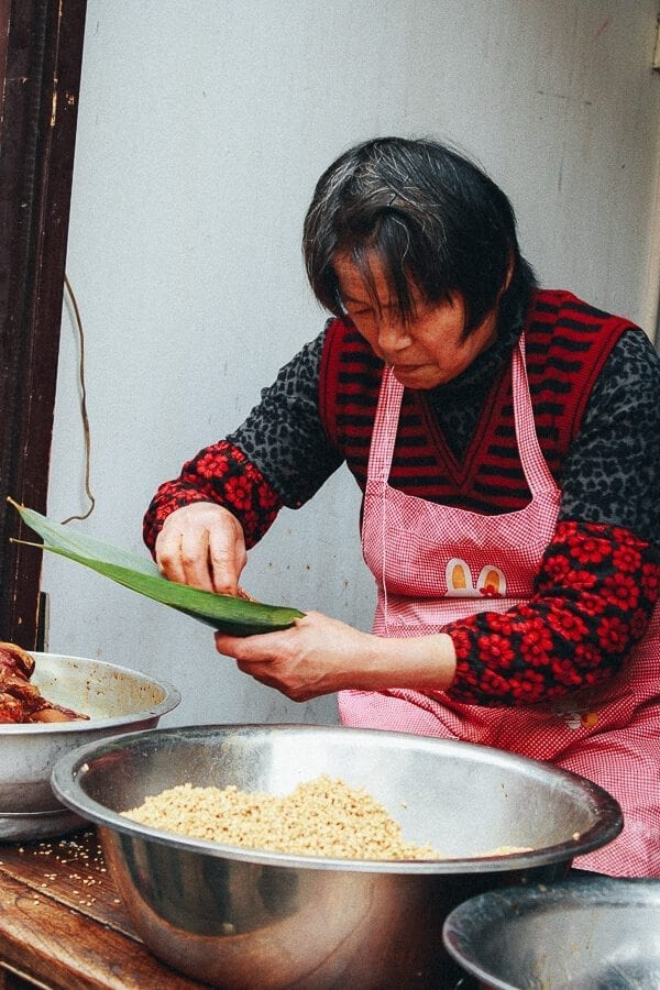 China's Dragon Boat Festival lady making Joong  by thewoksoflife.com